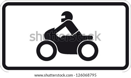traffic sign motorcycle