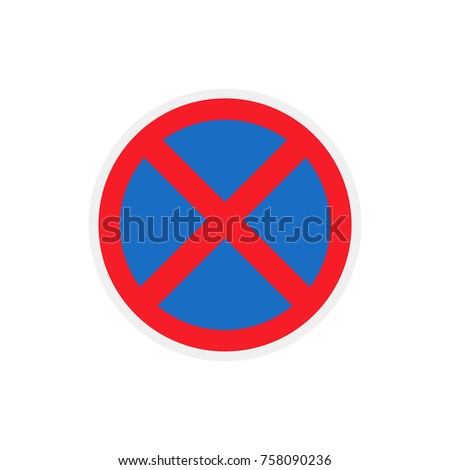 traffic sign, no stopping
