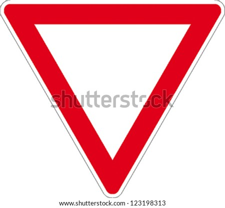 traffic sign right of way - stock vector