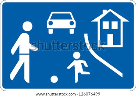 traffic sign traffic calming zone