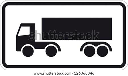 traffic sign truck