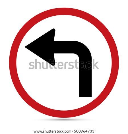 traffic sign  turn left ahead