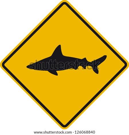 traffic sign wildlife shark