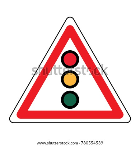 Traffic Signal Symbol Sign Stop Ahead Signs Traffic Light Ahead