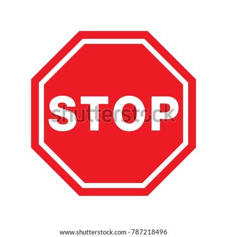Traffic signal symbol sign. stop ahead signs traffic light ahead  warning vector illustration  #787218496