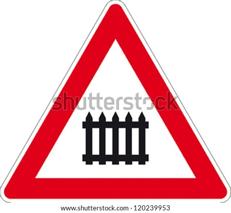 traffic signs highway barrier