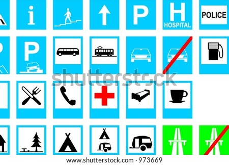 Traffic Signs: Information Stock Vector 973669 : Shutterstock