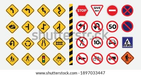 Traffic signs. Vector traffic signs design.