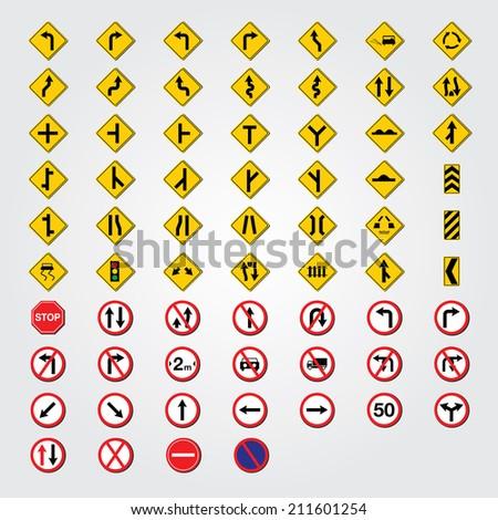 traffic symbols #211601254