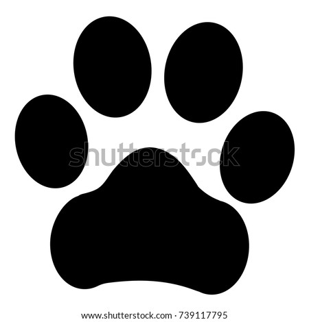 Trail paws vector illustration. Dog, cat, bear symbol flat pictogram. Doodle style. Design, print, logo, decor, textile, paper.