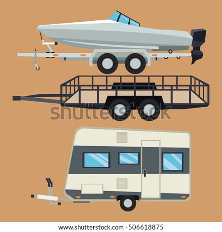 Trailer house and boat design