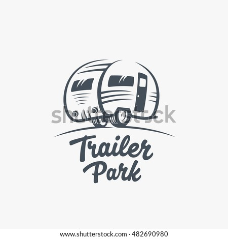 trailer or van park vector logo ...