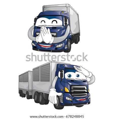 trailer truck mascot character