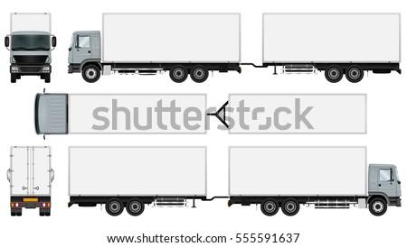 trailer truck template