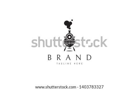 train abstract black vector