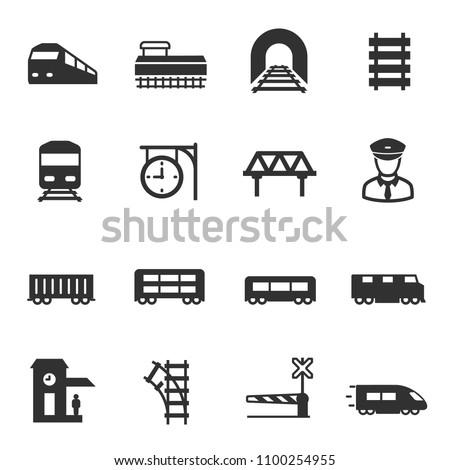 train and railways  monochrome