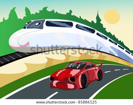 Auto Racing Nascar Lennie Pond on Train And The Car Races Stock Vector 85886125 Shutterstock