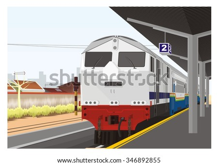 train arrive in railway station