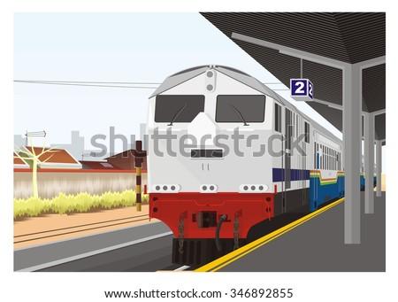 train arrive in railway station