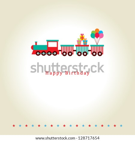 train birthday card