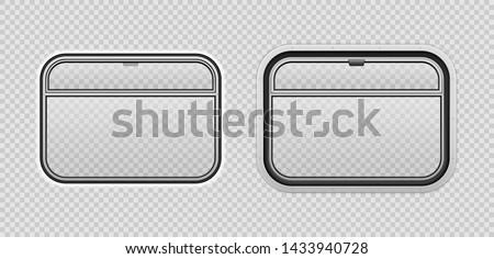 train cart window realistic