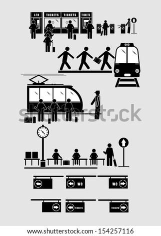 train commuter station subway