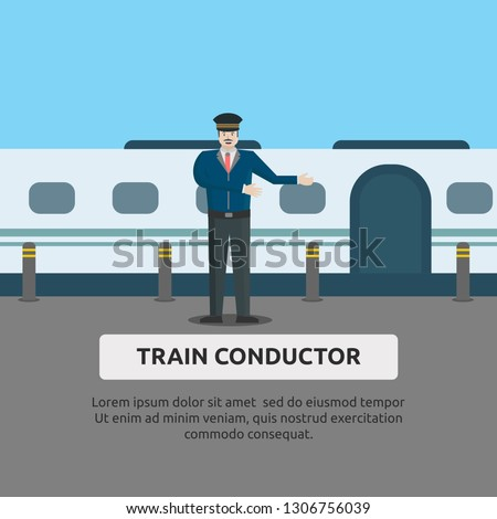 Train Engineer Clipart #1222812 - Illustration by toonaday