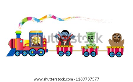 train happy halloween with