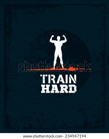 train hard athlete workout and