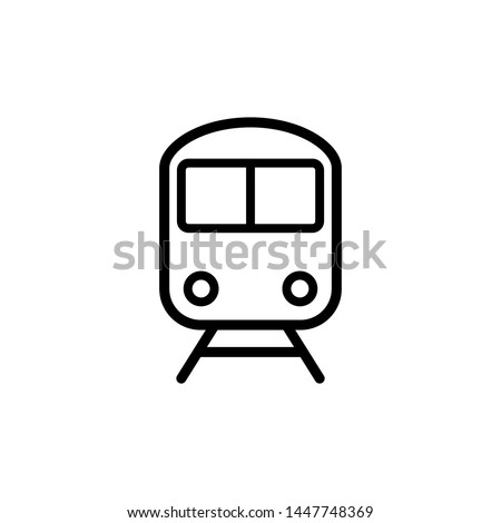 train icon, illustration front view design template