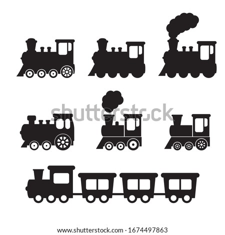 train icon  train with smoke