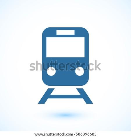 train icon, vector illustration. Flat design eps 10