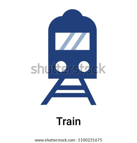 Train icon vector isolated on white background for your web and mobile app design, Train logo concept