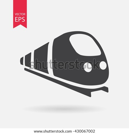 Train icon vector, Modern Transportation sign Isolated on white background. Trendy Flat style for graphic design, logo, Web site, social media, UI, mobile app, EPS10