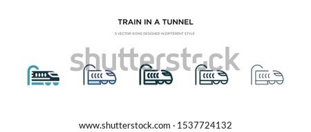 train in a tunnel icon in