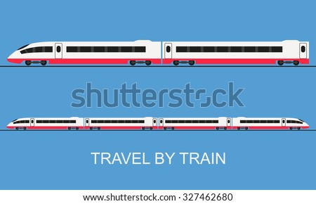 train in flat style vector