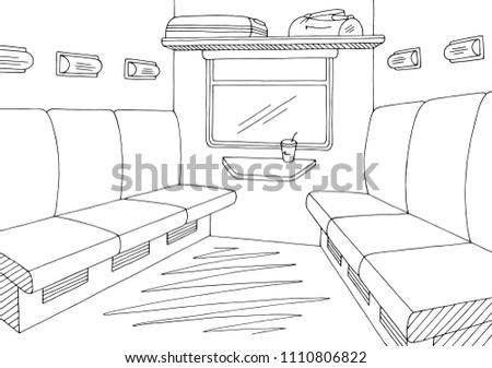 train interior graphic black