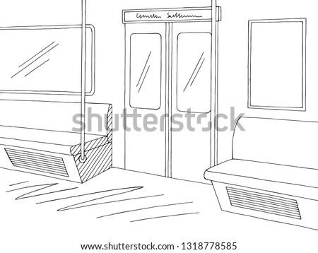 train interior graphic metro