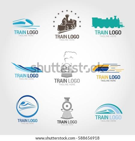 train logo design template