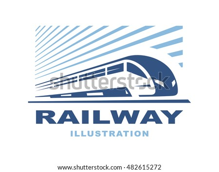 train logo illustration on
