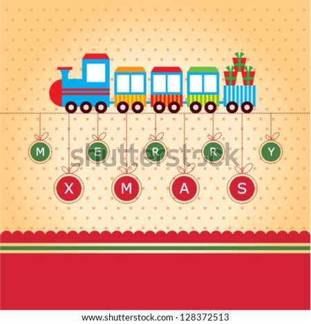 train merry christmas greeting