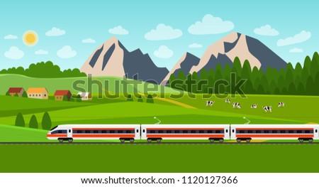 train on railway summer