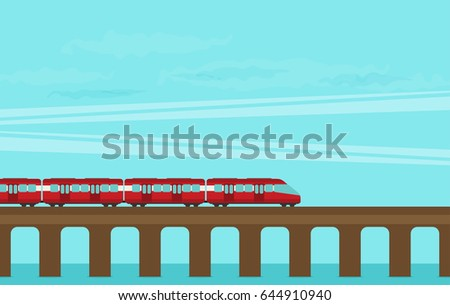 train on railway vector travel