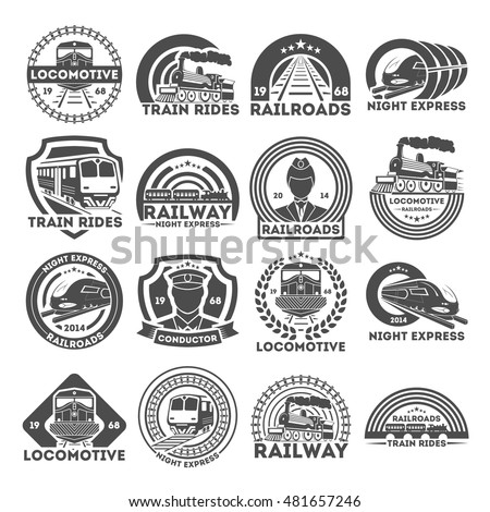 train  or railroad logo  signs