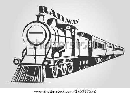 TRAIN OUTLINE vector