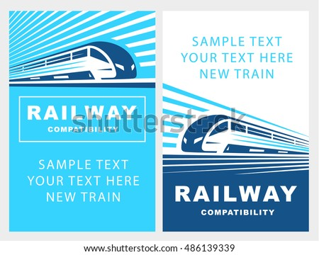 train poster illustration on