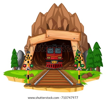 train ride on the track through
