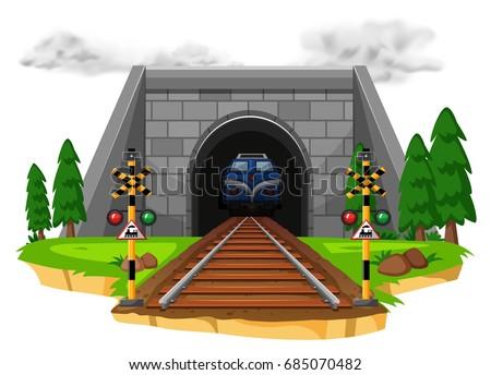 train riding on railroad