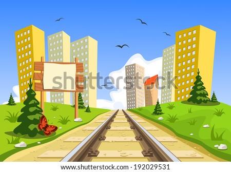 train route into the city