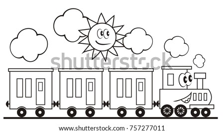 train set  three wagons